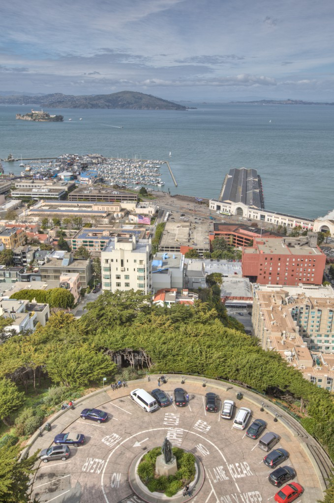 Alcatraz from Coit Tower