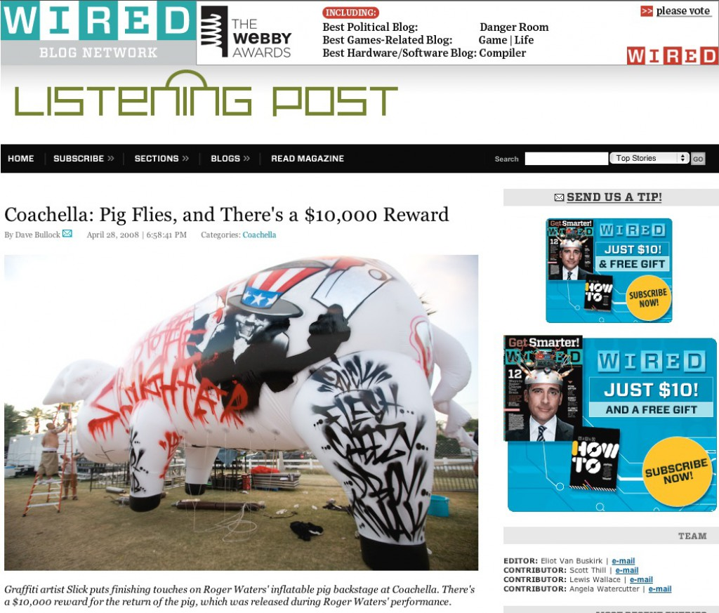 Wired.com Coachella: Pig