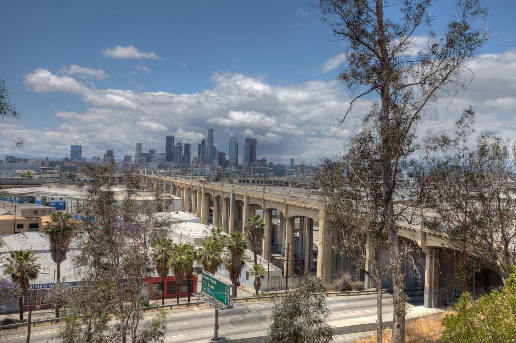 Dowtown Los Angeles and the 6th Street Bridge