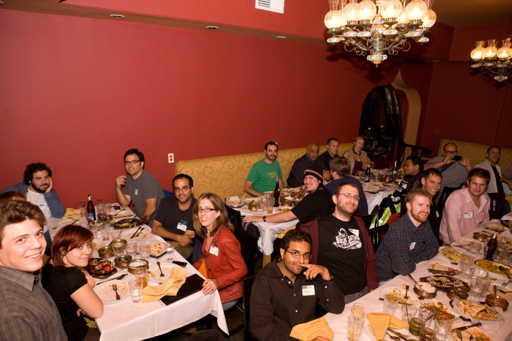 Geek Dinner Group Shot