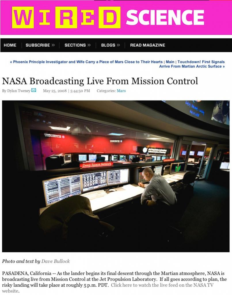 WIRED Live from Mission Control